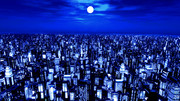【MMDステージ配布】都市夜景俯瞰 W5【AL対応スカイドーム】