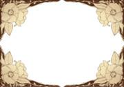 【フリー素材】花枠②