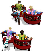 【MMDアクセサリ】ひそひそ椅子配布