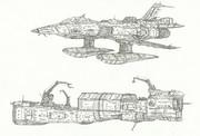 空間艦上特殊戦闘爆撃機セイラン&中型工作艦ポンペイ「自作艦」