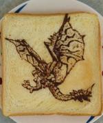 リオレウスを食パンに描いてみた