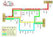 艦鉄バス鈴熊 路線図