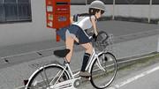 PC「前の自転車の中学生、停まりなさい!」磯波「え?わたしですか?」