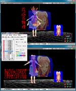 【MMD】ナデシコ風ディスプレイ 物理嵐の克服( 設定とお礼 )