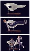 【MMDアクセサリ配布】ミッドセンチュリーのアノ椅子