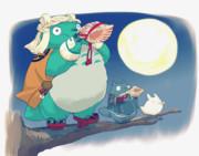 月夜の晩に法螺貝吹いてる国広兄弟