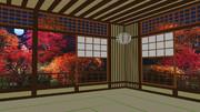 【MMDステージ配布】紅葉の夜 ST20【AL対応】