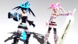 【MMDモデル配布】ブラック★ロックシューター獣と白★ロックシュータービースト
