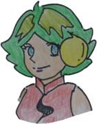 JR8DAGのAM & QRP ホームページのイメージキャラクター(ゆめこ)