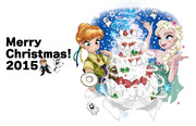 アナ雪のクリスマスカード作ってみたー