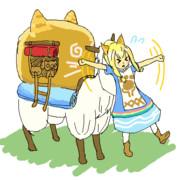 ネコ嬢を猫つかみしてベルナ村を散歩したい