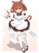 猫耳メイド雷ちゃん!