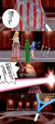 鬼vs桃城戦4コマパロ