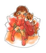 柴犬×セーター