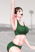 女子陸上選手