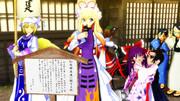 幻想郷再建に向けて演説する紫と・・・・。