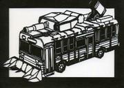 【切り絵】野バス