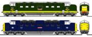"""イギリス国鉄D33形(Class55)ディーゼル機関車""""Deltic"""""""