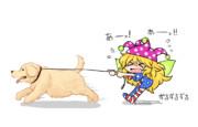 クラピは飼い犬に引きずられてるイメージがある