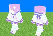 【Minecraftスキン】ネプテューヌ(パーカーワンピ)【超次元ゲイムネプテューヌ】