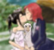 アルパカにピントがズレた にこまき結婚写真