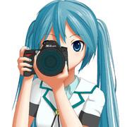 カメラを構えるミクさんのアイコン