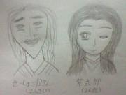 平安時代の2大美人を描いてみました