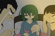 幼女おばさんの誕生を喜ぶひでとおじさん