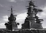 戦艦と駆逐艦