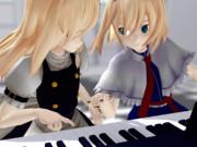 ピアノの練習中