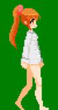 【gifアニメ】はだわい娘の歩きモーション
