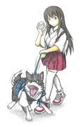 赤城と加賀犬