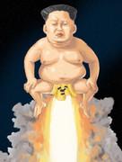 建国記念日!ミサイルと化した党委員長