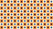 レトロポップ花柄背景【フリー素材】