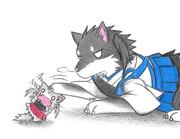 加賀犬と瑞鶴子ネコ