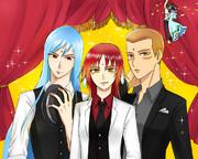 洋装が似合いそうな三人