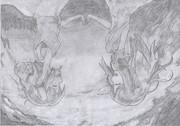『キミノヨゾラ哨戒班』描いてみた。