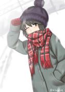 深雪の中で