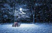 雪景色の中のゆうさく兄妹