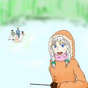 ワカサギ釣りおばさん