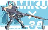 ミクさんとラハティL39さん【銃と少女シリーズ】
