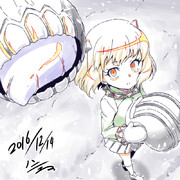 地吹雪のカチューシャ