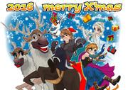 アナ雪のクリスマスカード