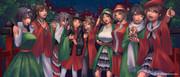 クリスマスカラーの軽空母が合唱してくれた