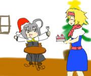 クリスマスにはICGのケーキ