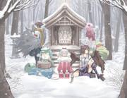 冬枯れの妖怪山