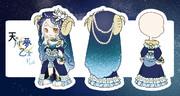 【ラテールイラストコンテスト】天の川の夢乙女ドレス