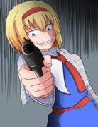 銃をむけるアリスTIS