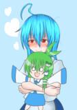 【人気投票支援絵】サナエチャンドールを抱きしめる天子