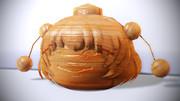きめぇ丸(木彫り)